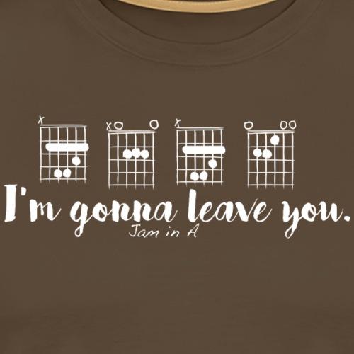 B A B E I m gonna leave you - T-shirt Premium Homme