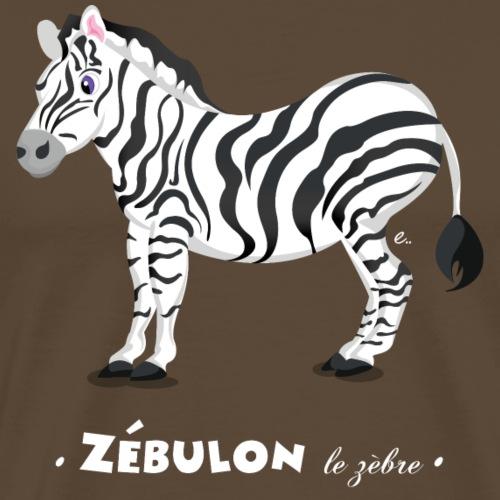Zébulon le zèbre - T-shirt Premium Homme