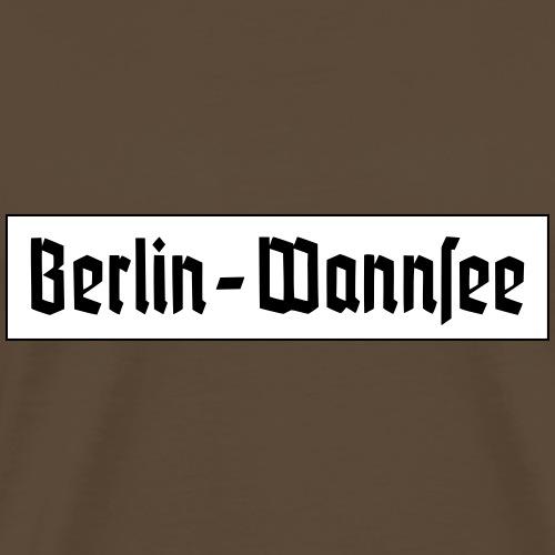 Berlin Wannsee Fraktur - T-shirt Premium Homme