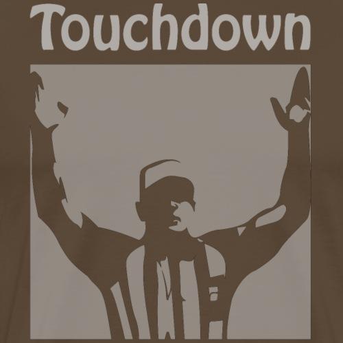 American Football Touchdown weiss