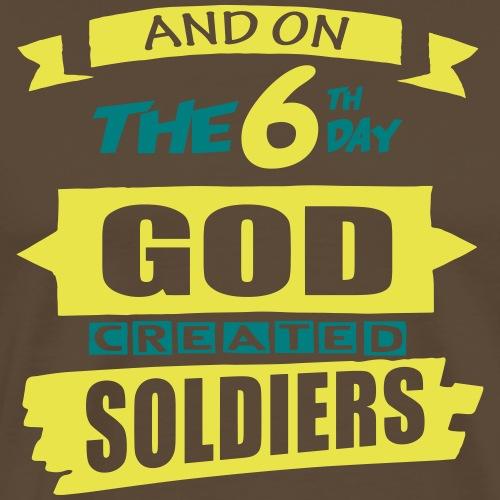 God Created Soldiers - Men's Premium T-Shirt