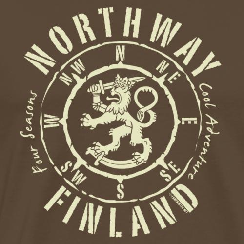 01-06 NORTHWAY KOMPASS FINLAND - Lahjatuotteet - Miesten premium t-paita