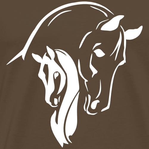 Stute mit Fohlen - Männer Premium T-Shirt