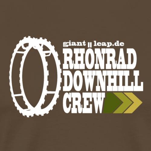 rhoenraddownhill_weiss_druck - Männer Premium T-Shirt