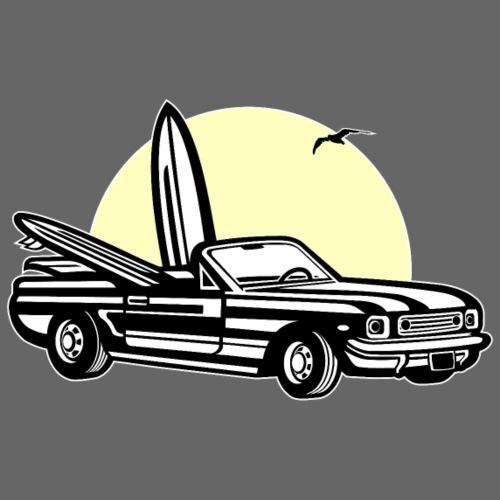 Muscle Car im Sonnenuntergang 01_dreifarbig - Männer Premium T-Shirt