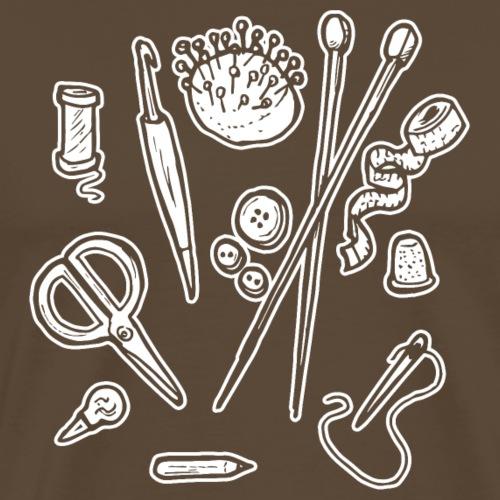 Handarbeiten lustiges Hobby Werkzeuge Geschenk - Männer Premium T-Shirt