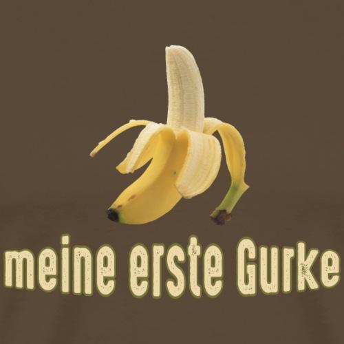 meine erste Gurke Banane Ossi Wessi Obst Gemüse - Men's Premium T-Shirt