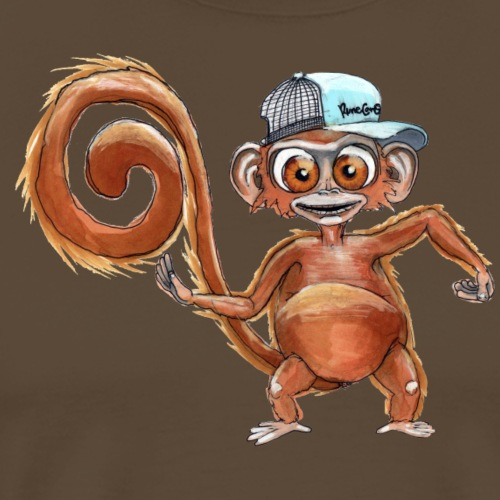 ElectricBoogie Monkey - Herre premium T-shirt