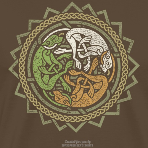 Irland T-Shirt Trikolore   www.spassprediger.de - Männer Premium T-Shirt