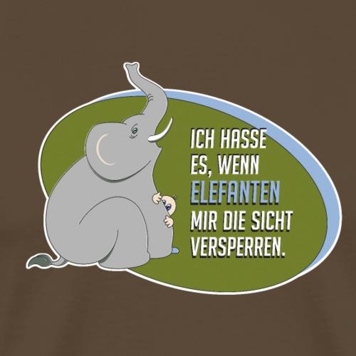 Elefant Umweg gehen Rüssel Sicht Sperre Comic Zoo - Men's Premium T-Shirt