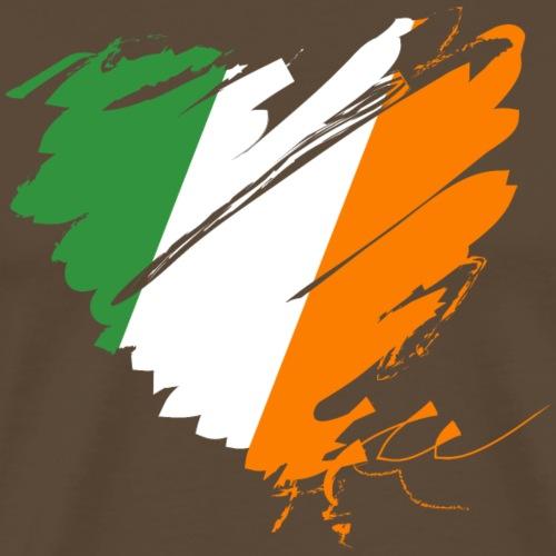 Herz Heart Irland Éire Ireland Grüne Insel Dublin - Men's Premium T-Shirt