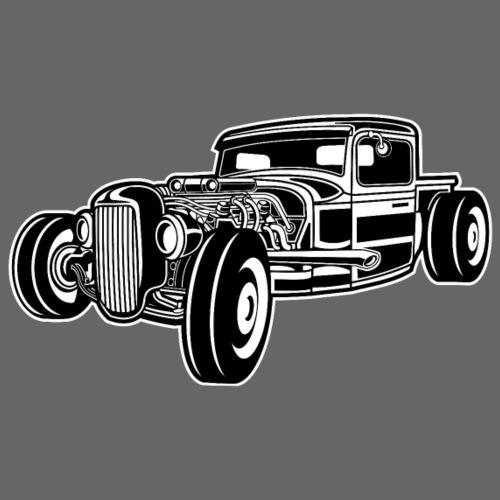 Hot Rod / Rad Rod 06_schwarz weiß - Männer Premium T-Shirt