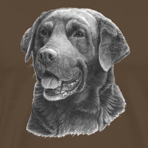 labrador bw - Herre premium T-shirt