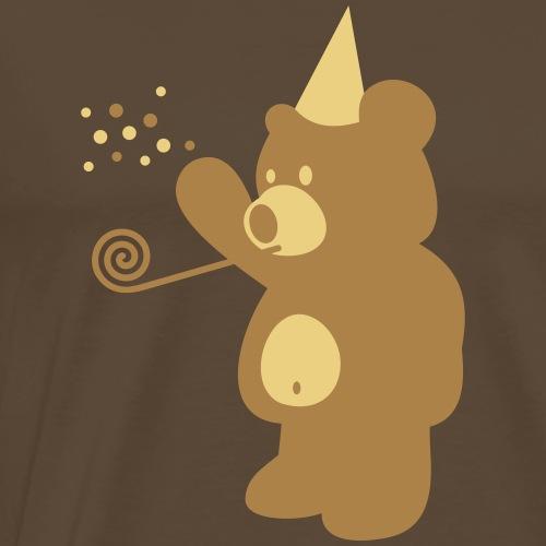 Cartoon T Shirt Design Party Bär - Männer Premium T-Shirt