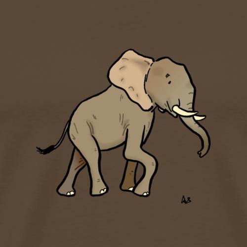 African Elephant - Premium T-skjorte for menn
