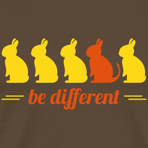 be different Hasen Kanichen Ostern bunny Häschen - Männer Premium T-Shirt