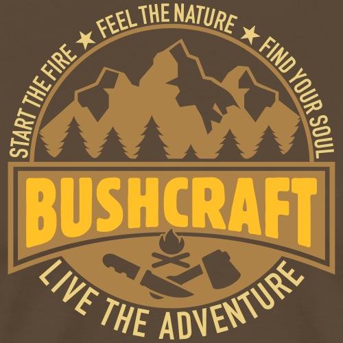 Bushcraft Survival Wald Wildnis Überleben Prepper - Männer Premium T-Shirt