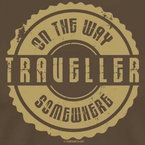 FP 13TR-03 ON THE WAY SOMEWHERE-TRAVELLER PRODUCTS - Miesten premium t-paita