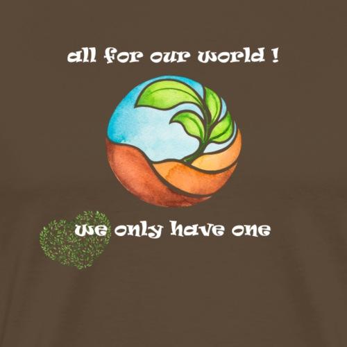 Umweltschutz Freitags Demo für unsere Zukunft - Männer Premium T-Shirt
