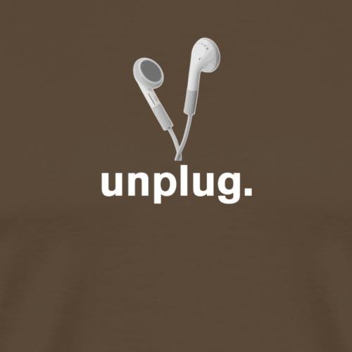 Headphones - unplug (white) - Men's Premium T-Shirt