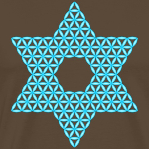 Star Of Life - Vector design, light - blue - 3d - Men's Premium T-Shirt