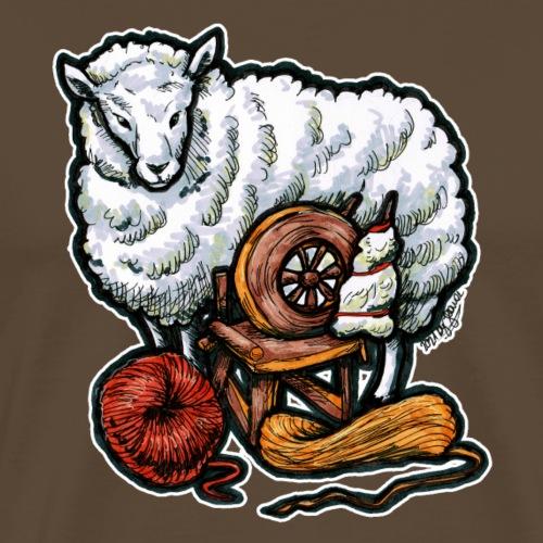 Lustiges Schaf und Wolle Handarbeiten Geschenk - T-shirt Premium Homme