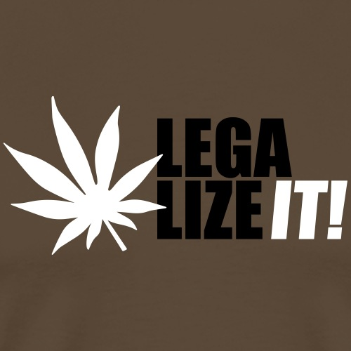 Marihuana Legalize it Cannabis Kiffen Shit - Men's Premium T-Shirt