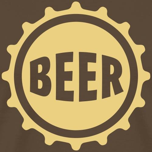 Bier Beer Bierdeckel Flaschenbier Kronkorken Durst - Men's Premium T-Shirt