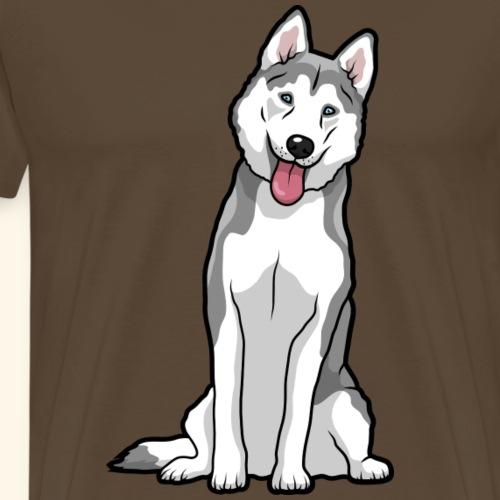 Siberian Husky Dog - Men's Premium T-Shirt