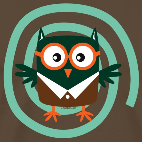 FP10-54 SCHOOL OWL - TEXTILE AND GIFT PRODUCTS - Miesten premium t-paita