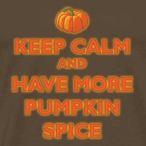 KeepCalmPumpkinSpice - Maglietta Premium da uomo