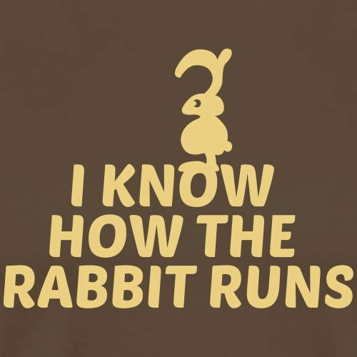 i know how the rabbit runs denglisch hase kaninche - Männer Premium T-Shirt