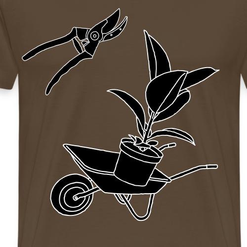 Gartenschere 2 - Männer Premium T-Shirt