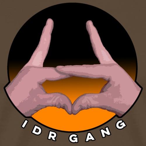 IDR Gang hand sign (Orange) - Men's Premium T-Shirt