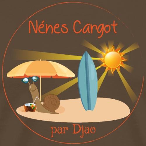 Nénes Cargot à la plage par Djao - T-shirt Premium Homme