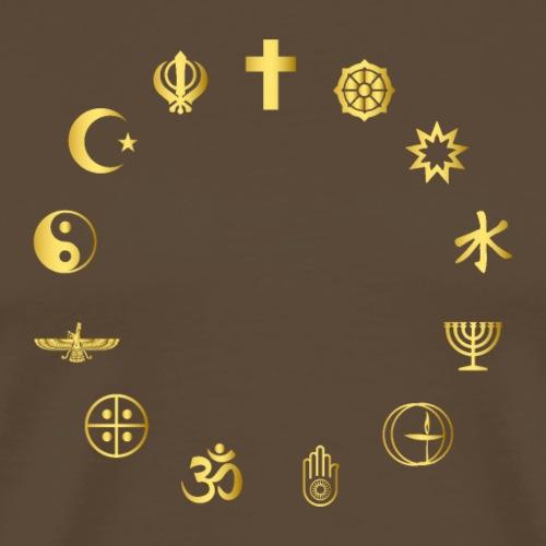 Religions Together - Men's Premium T-Shirt