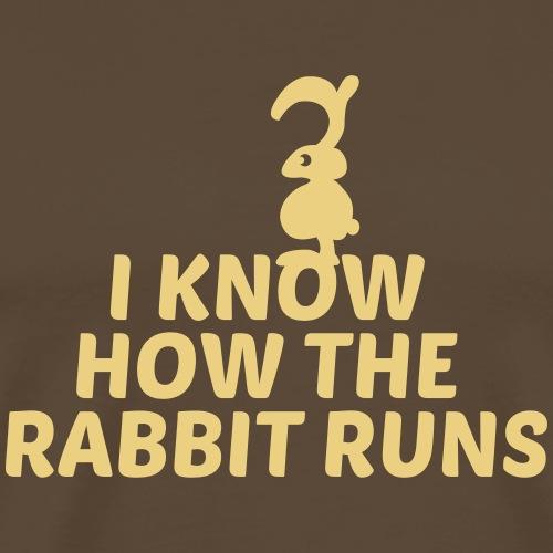 i know how the rabbit runs denglisch hase kaninche - Männer Premium T-Shirt