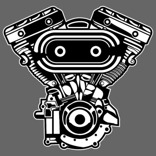 Motorrad Motor / Engine 02_schwarz - Männer Premium T-Shirt