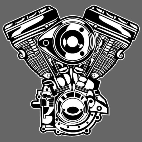Motorrad Motor / Engine 01_schwarz weiß - Männer Premium T-Shirt