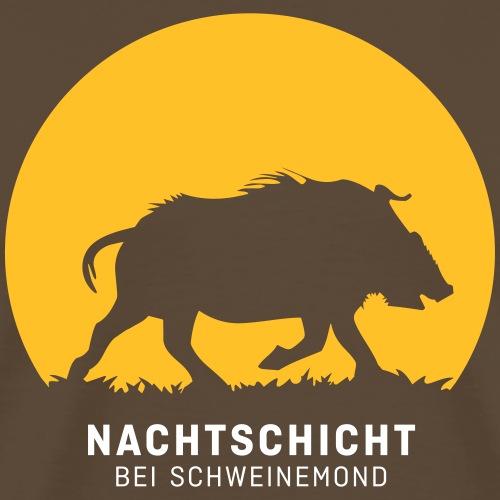 Nachtschicht bei Schweinemond! Jäger Shirt Jaeger - Männer Premium T-Shirt