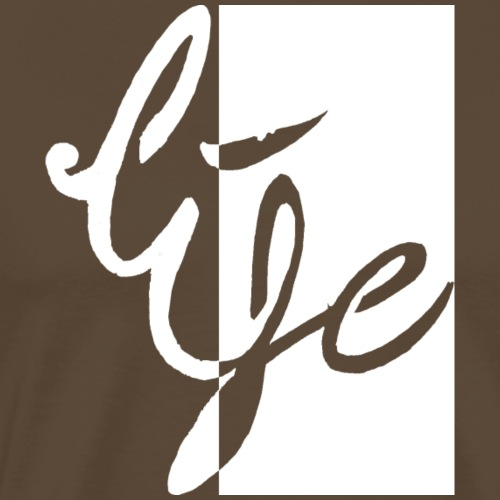 Life Logo 02 white - T-shirt Premium Homme