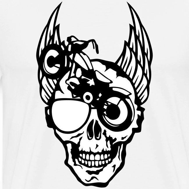 tete mort moto skull aile motard oeil