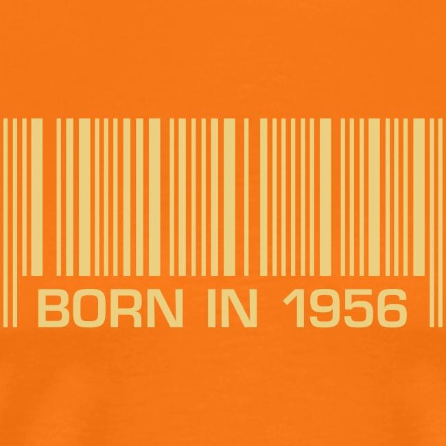 barcode born in 1956 60th birthday 60. Geburtstag