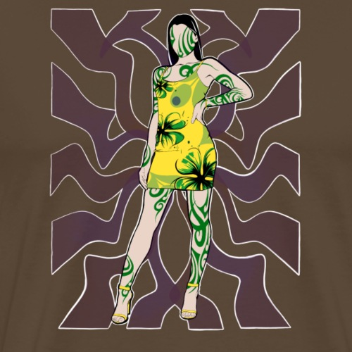 Motif Girl - T-shirt Premium Homme