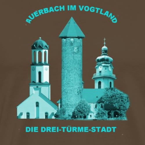 Auerbach Vogtland Drei Türme Stadt - Männer Premium T-Shirt