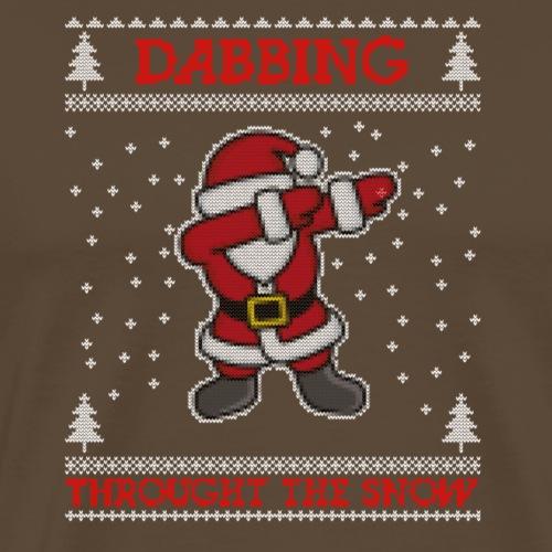 Dabbing Weihnachtsmann Ugly Christmas Design - Männer Premium T-Shirt