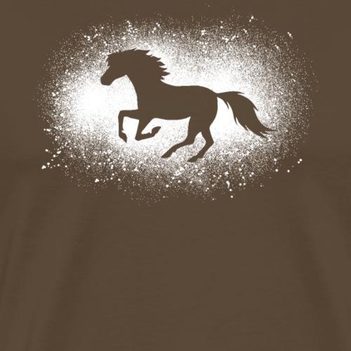 Poney drôle de cheval galopant cadeau grunge - T-shirt Premium Homme