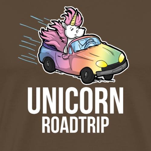 Roadtrip lustiges Einhorn Auto Geschenk Reisen - Männer Premium T-Shirt