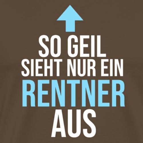 Geschenk fuer sportlichen geilen Rentner - Männer Premium T-Shirt