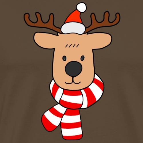 Christmas Santa Reindeer - Men's Premium T-Shirt